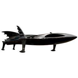 Michael Keaton 'Batman' full-scale screen used 'Bat Ski Boat' from Batman Returns.