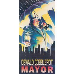 'Oswald Cobblepot for Mayor' prop poster from Batman Returns.