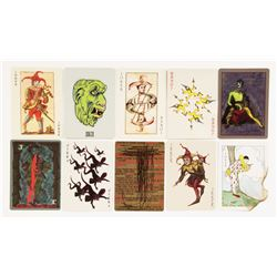 Heath Ledger 'Joker' (10) joker playing cards from The Dark Knight.