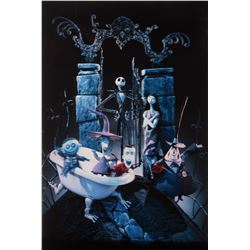 The Nightmare Before Christmas Barrier Strip lenticular 3-D 'Hell's Gate' style 1-sheet poster.
