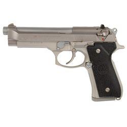 Beretta .40 Model 96 pistol inscribed to Sylvester Stallone from Beretta family with custom case.