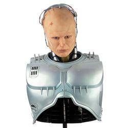 """Peter Weller 'RoboCop' production used armor & helmet from RoboCop on custom """"Murphy"""" display."""