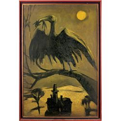 Vulture painting from The Addams Family.