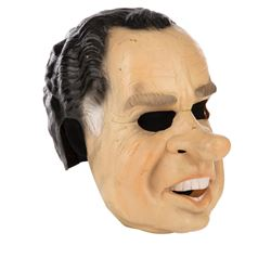 The 'Ex-Presidents' 'Roach' Richard Nixon & 'Grommet' Lyndon Johnson robbery masks from Point Break.