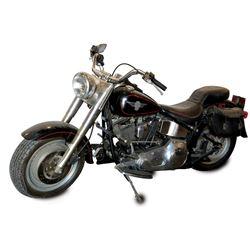 Arnold Schwarzenegger 'Terminator' 1991 Harley-Davidson FLSTF Fat Boy motorcycle from Terminator 2: