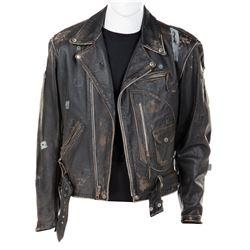 Arnold Schwarzenegger 'Terminator' signature leather jacket from Terminator 2: Judgment Day.