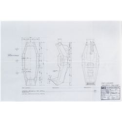Terminator 2: Judgment Day production blueprint drafts for the cryogenics lab.