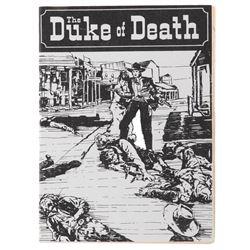 'Duke of Death' prop dime novel from Unforgiven.