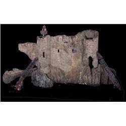 Castle ruins model miniature from Bram Stokers Dracula.