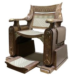 Jaye Davidson 'Ra' throne and footrest from Stargate.