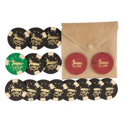 Poker Chips (16) with pouch from Casino.