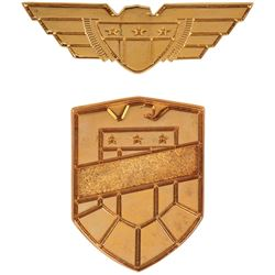 'Judge' badge and pin from Judge Dredd.