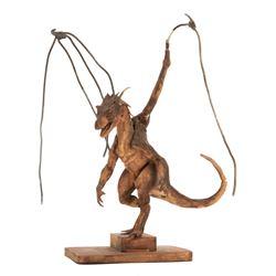 Phil Tippett dragon maquette for Dragonheart.