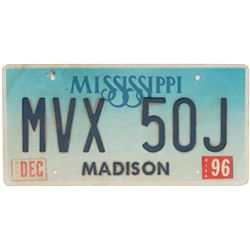 Matthew McConaughey 'Jake Tyler Brigance' hero license plate from A Time to Kill.