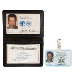 Arnold Schwarzenegger 'U.S. Marshal John 'The Eraser' Kruger' EMS badge & identification from Eraser