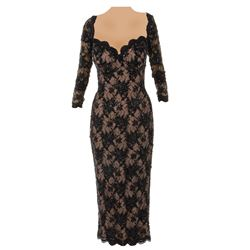 Jennifer Connelly 'Allison Pond' black lace dress from Mulholland Falls.