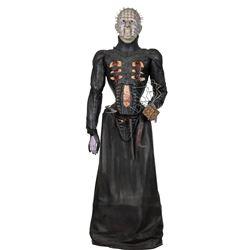 Doug Bradley 'Pin Head' leather cenobite costume on custom display figure from Hellraiser: Bloodline