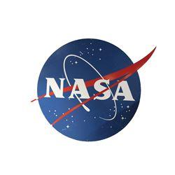 Wall mounted NASA insignia sign from Armageddon.