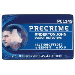 Tom Cruise 'John Anderton' lenticular Precrime ID card from Minority Report.