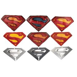 Brandon Routh 'Superman' Collection of (9) test 'S' logos from Superman Returns.