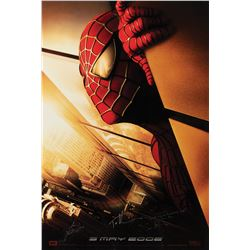 Spider-Man Advance 1-sheet poster signed by Stan Lee, Toby Maguire and director Sam Raimi.