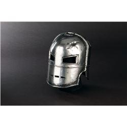 Robert Downey Jr. 'Iron Man' production made 'Mark I' suit helmet from Iron Man.