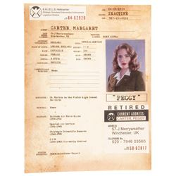Hayley Atwell 'Peggy Carter' S.H.I.E.L.D. file from Captain America: The First Avenger.