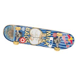 Shaun White 'Milk Bags' competition skateboard from the Dew Tour 2010.