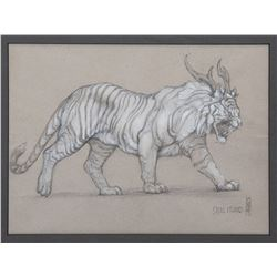 Concept artwork of 'Icarus Tigris' tiger monster from Kong: Skull Island.