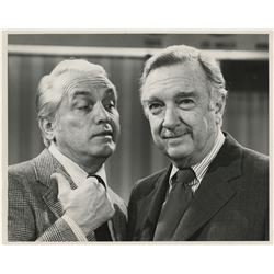Walter Cronkite signed photo to Ted Knight, Ted Knight signed contracts & AFTRA card.