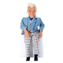 Ted Knight 'Little Ted' ventriloquist dummy from his MGM Las Vegas act with original 1978 script.