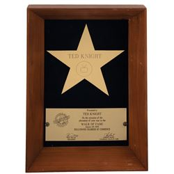 Ted Knight's presentation star from the Hollywood Chamber of Commerce and his People's Choice nom.