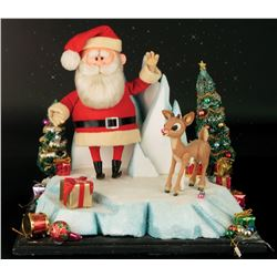 "Screen used ""Rudolph"" and ""Santa"" stop motion puppets from Rudolph the Red-Nosed Reindeer."
