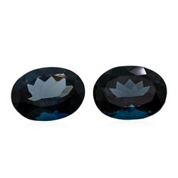 46.28 ctw. Natural Oval Cut London Blue Topaz Parcel of Two