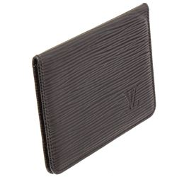 Louis Vuitton Black Epi Leather ID Card Holder Wallet