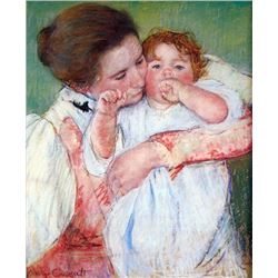 Mary Cassatt - Young Mothers Embrace