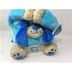 Lunch Pets Plush Lunch Box-blue