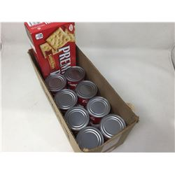 Lot of Crackers and Campbells Tomato Soup