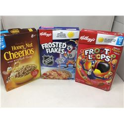 Lot of Assorted Cereals