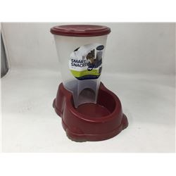 Smart Snack Pet Free Feeding System- Red