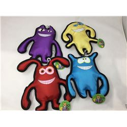 Lot of Canvas Squeaker Dog Toys (4)