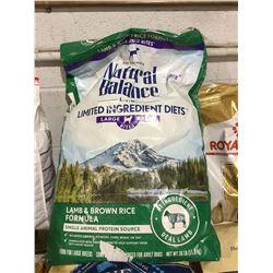 Natural Balance Large Breed Lamb and Brown Rice Recipe Dog Food (11.8kg)