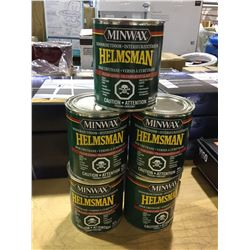 Minwax Indoor/Outdoor Helmsman Spar Urethane Clear Gloss Finish (946mL) Lot of 5
