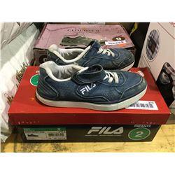 Fila Kids Memory Foam Size 2 Shoes