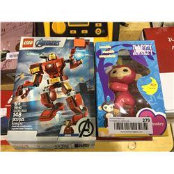 Lego Avengers Iron Man and Happy Monkey Set Lot of 2