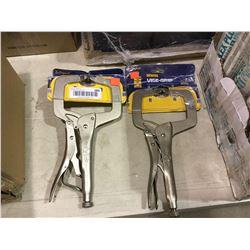 Irwin Vise Grip Locking C-Clamp Lot of 2