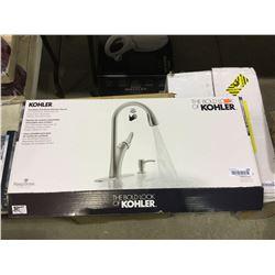 Kohler Touchless Pull-Down Kitchen Faucet w/ Soap Dispenser