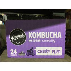 Case of Remedy Cherry Plum Kombucha (24 x 250mL)