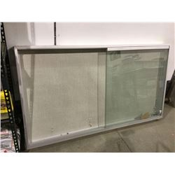 """Enclosed Bulletin Board with Lock and Key(73"""" W x 4.5"""" x 41"""" H)"""