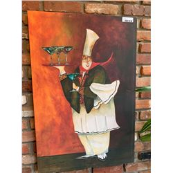 Large decor painting chef